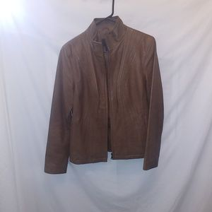 A.n.a. women's leather jacket Sz S Brown